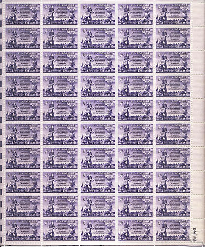 1015 pane Scotts - US Postage Stamps