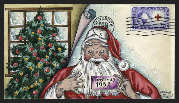 1016 xmas cover - Scotts - US Postage Stamps