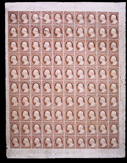 pane 0f 1851 3 cents (3c) Scotts - US Postage Stamps