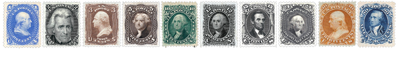 1875 US Postage Stamps