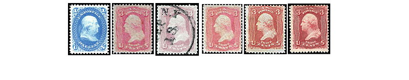 1861 US Postage Stamps