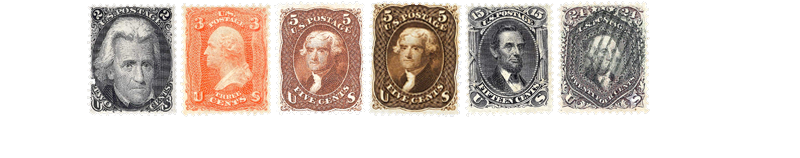 1866 US Postage Stamps