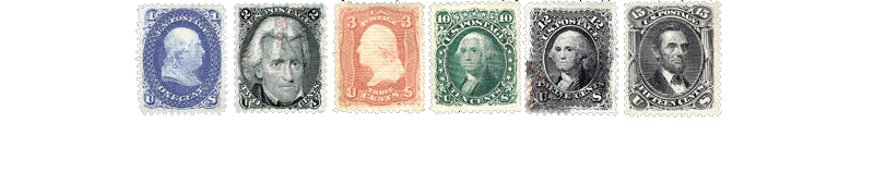 1867 US Postage Stamps