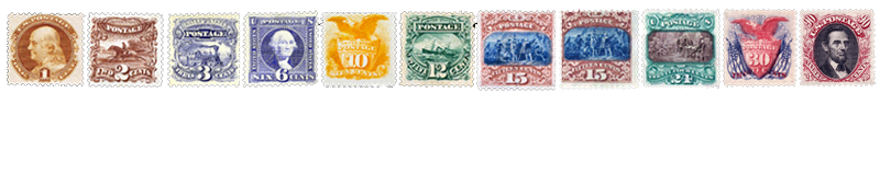 1869 US Postage Stamps