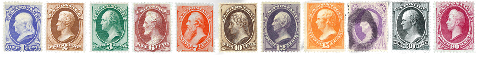 1870 US Postage Stamps
