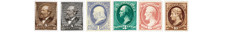 1882 US Postage Stamps