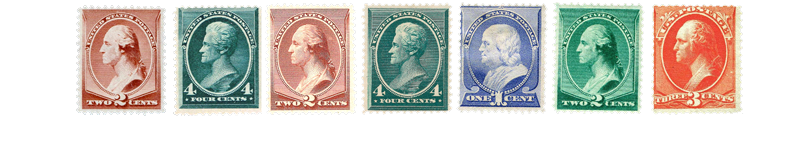1887 US Postage Stamps