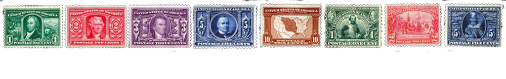 1906 US Postage Stamps