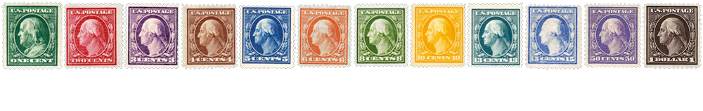 1908 US Postage Stamps