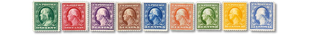 1909 US Postage Stamps