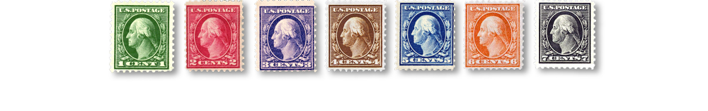 1912 US Postage Stamps