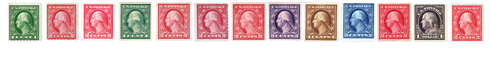 1913-15 US Postage Stamps