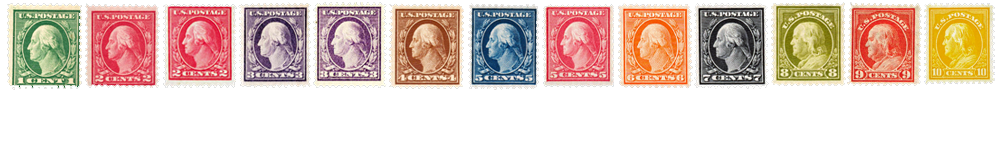 1916-22 US Postage Stamps