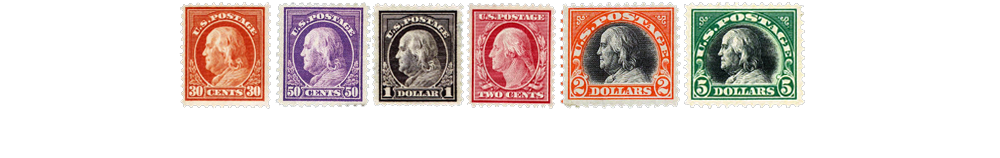 1917-19 US Postage Stamps
