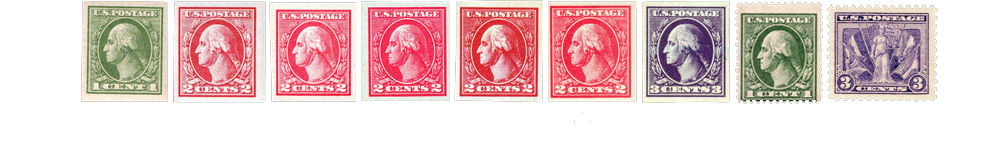 1919-21 US Postage Stamps