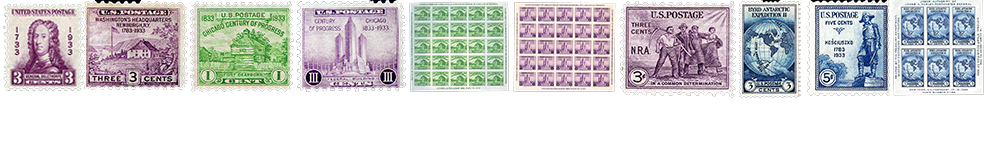 1932 US Postage Stamps