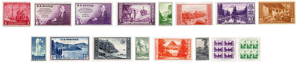 1934 US Postage Stamps