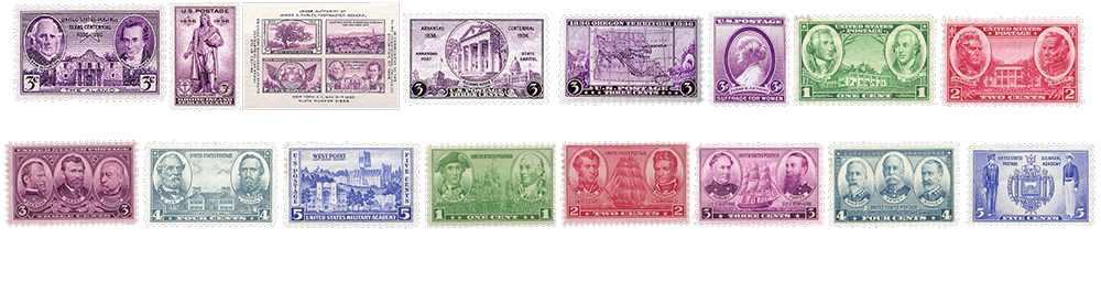 1935 US Postage Stamps