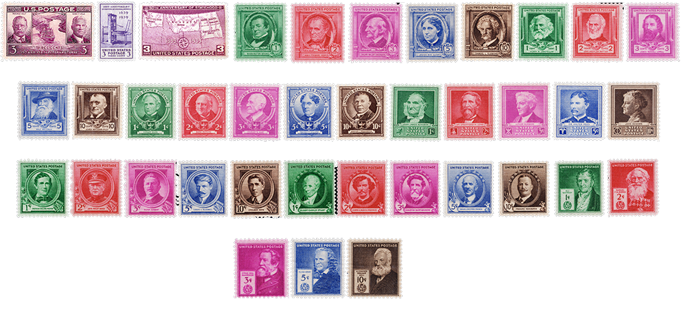 1940 US Postage Stamps