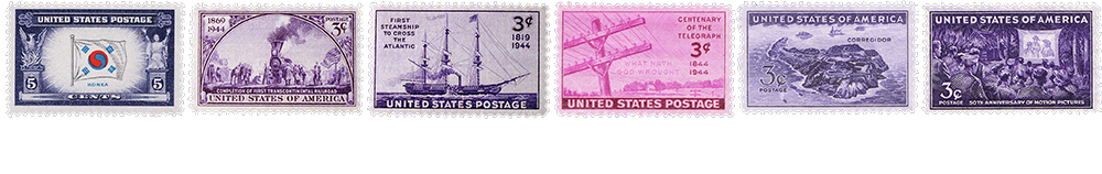 1944 US Postage Stamps