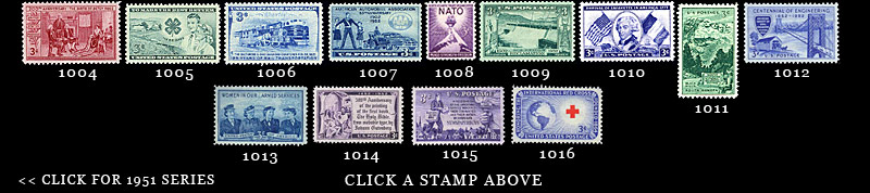 1952 Stamp Thumbnails