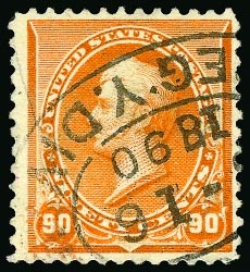 229 earliest use US Postage Stamp