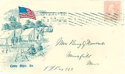 289 Patriotic Cover from the Civil War - Camp Alger, VA - Scotts - US Postage Stamps