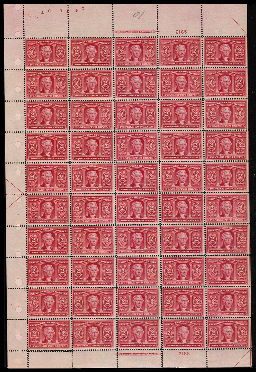 scotts 324 sheet  - US Postage Stamps
