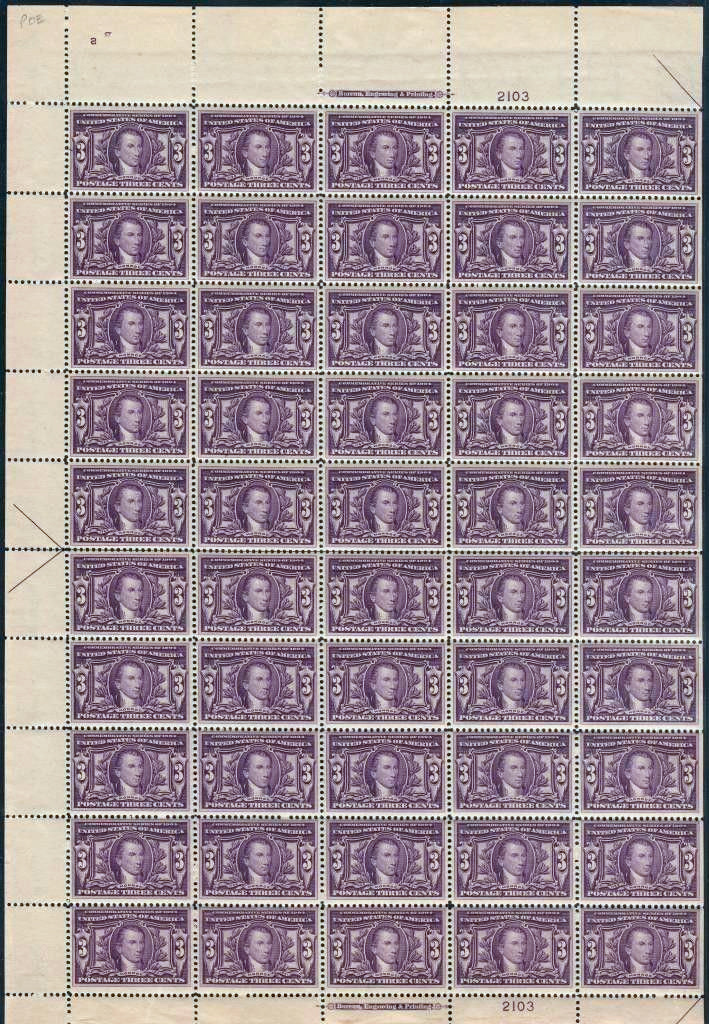 scotts 325 sheet  - US Postage Stamps