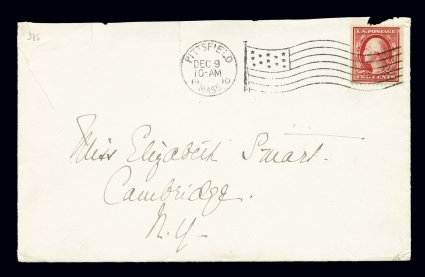 386 Scotts - earliest known stamp on cover US stamps