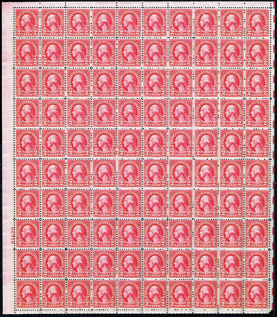 US stamps 634 sheet