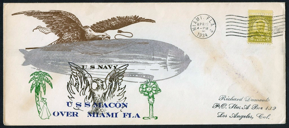 640 zeppilin day cover Scotts - US Postage Stamps