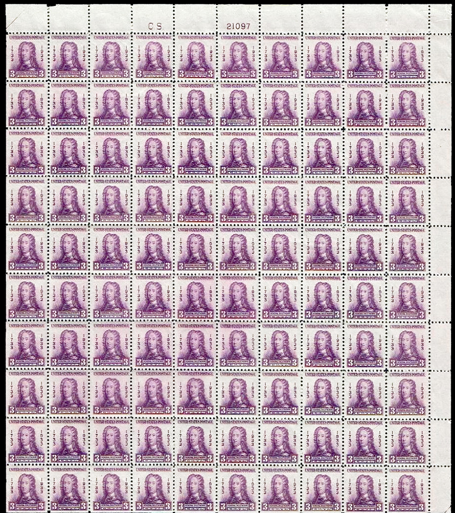 US stamp 726 sheet