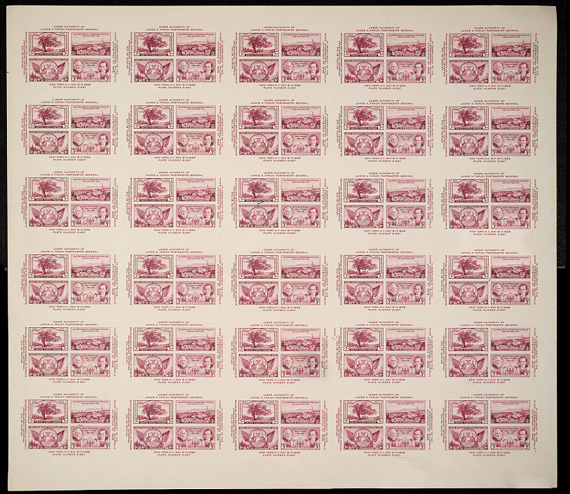 US stamp 778 sheet