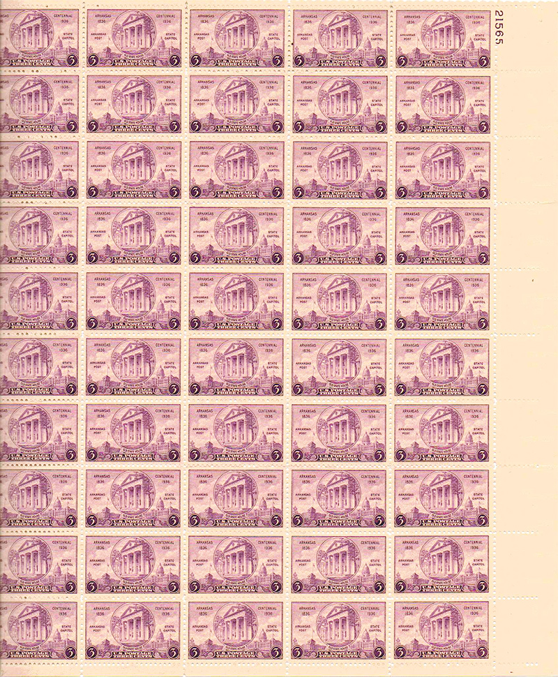 US stamp 782 sheet