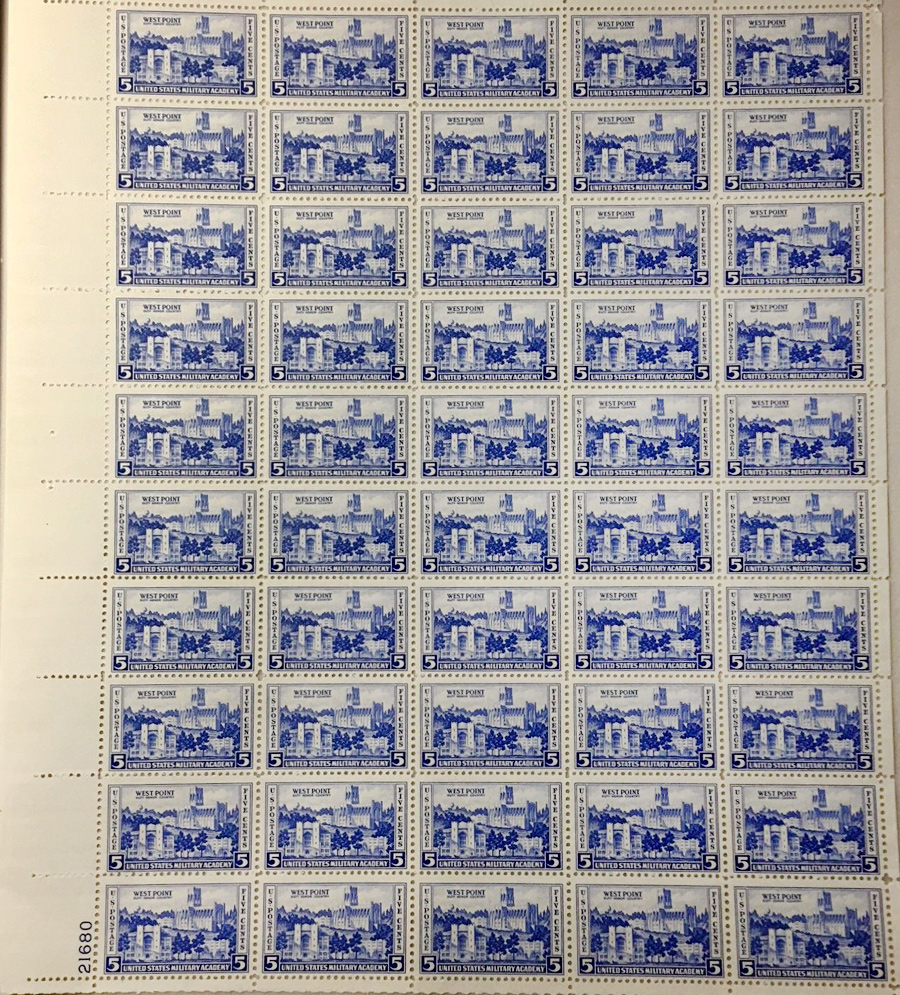 US stamp 789 sheet