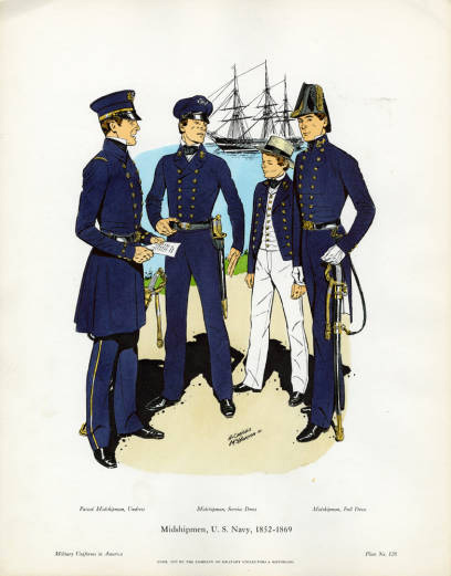 Midshipman in the US navy 1869