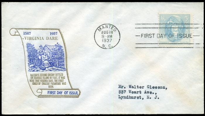 US stamp 796 first day cover fdc