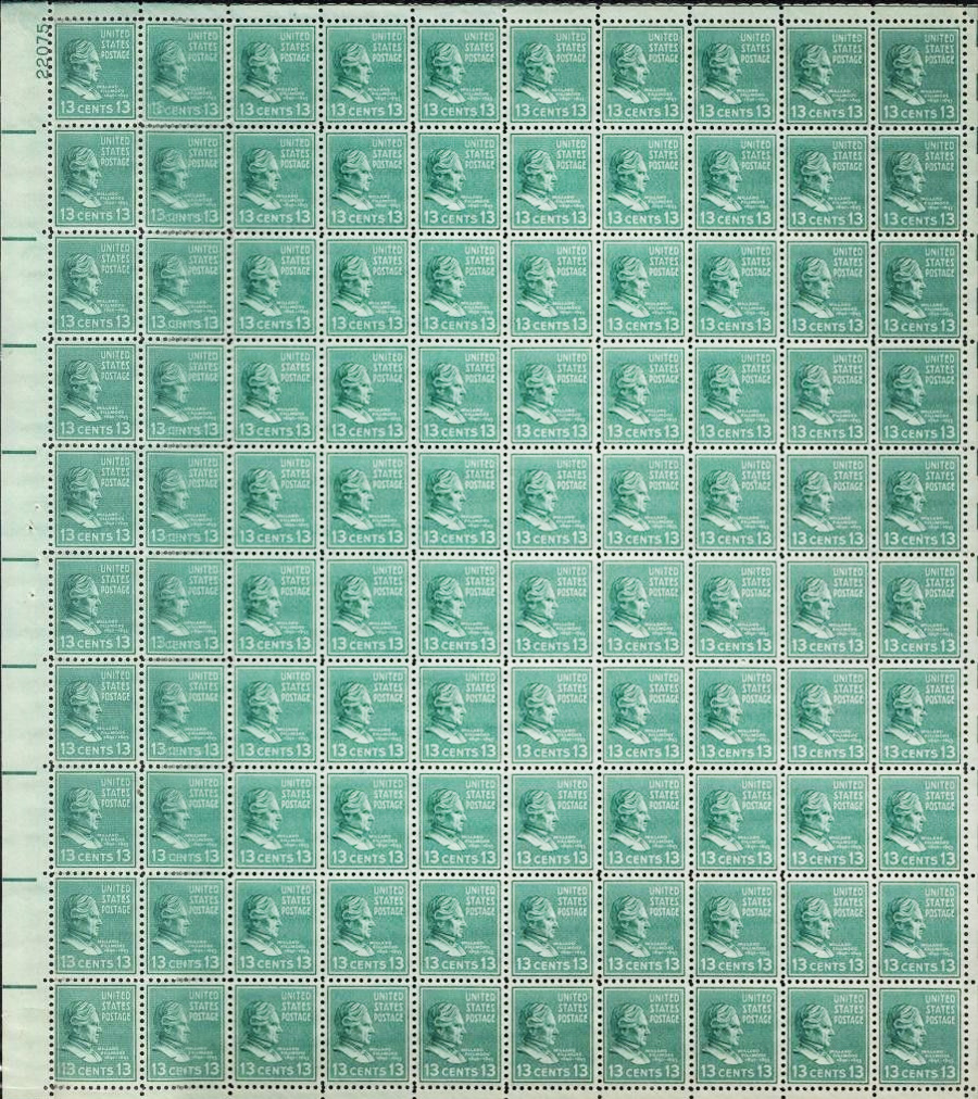 US stamp 818 sheet