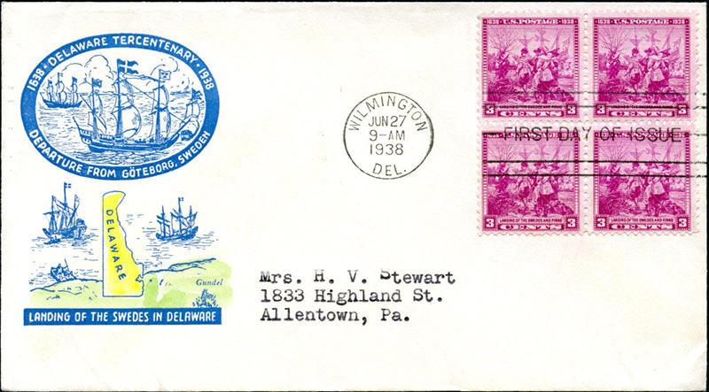 US stamp 836 first day cover fdc