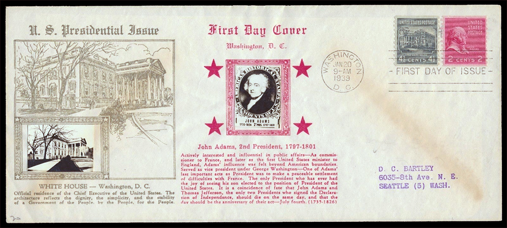 US stamp 841 first day cover fdc