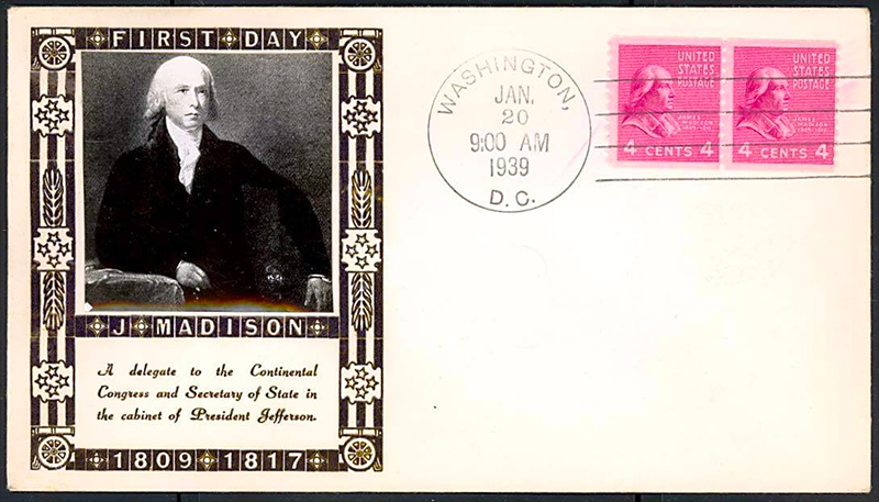 US stamp 843 first day cover fdc