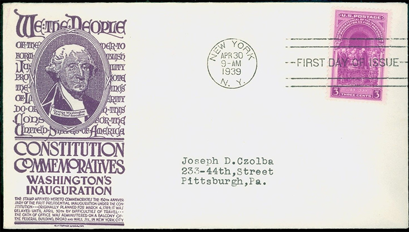 US stamp 854 first day cover fdc