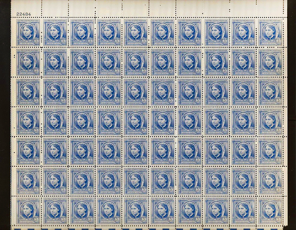 US stamp 862 sheet