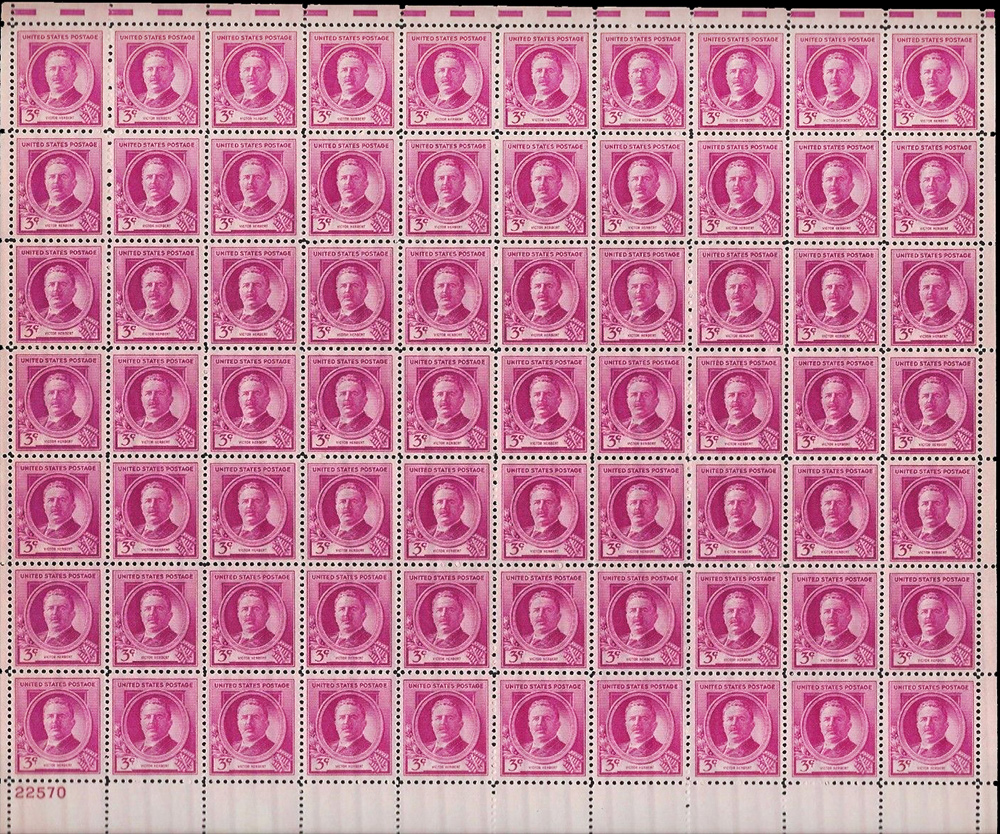 US stamp 881 sheet