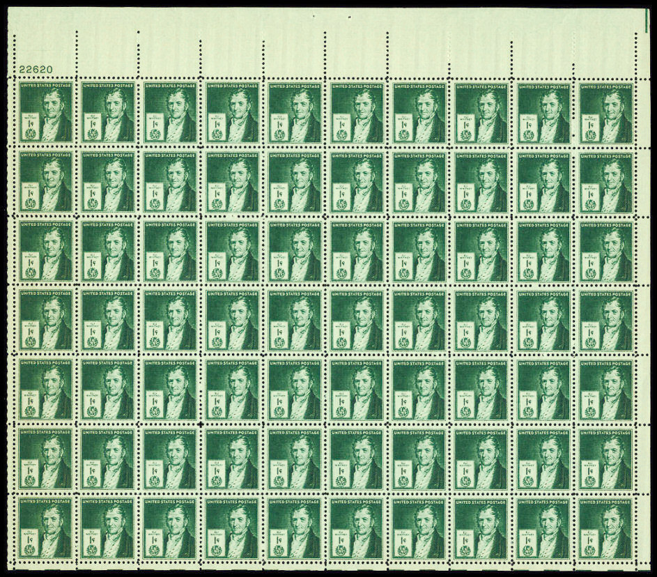 US stamp 889 sheet