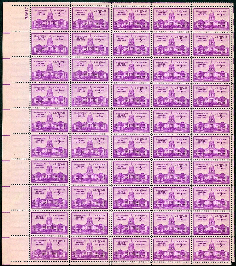 US stamp 896 sheet