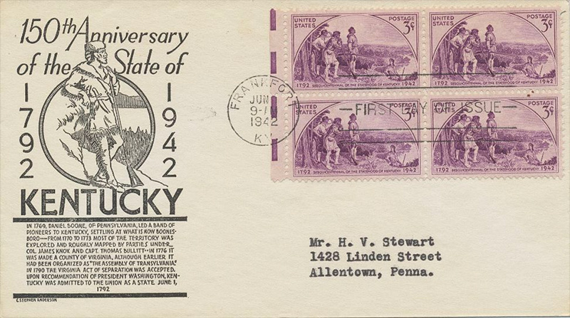 US stamp 904 first day cover fdc
