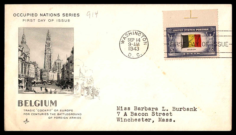 US stamp 914 first day cover fdc
