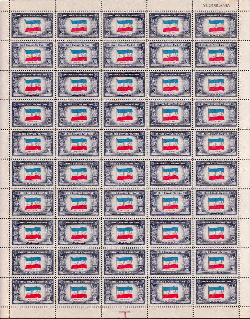 US stamp 917 sheet